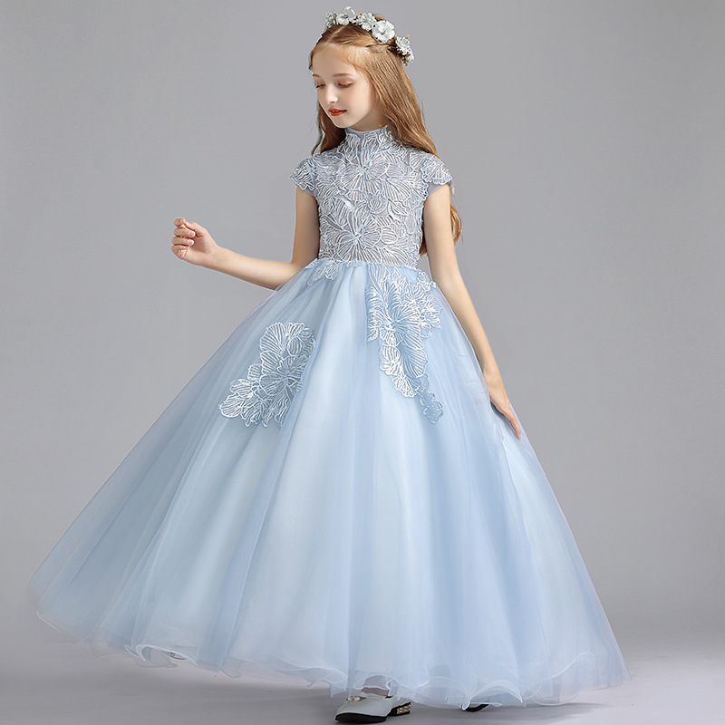 New Flower Girl Dresses Appliques Ball Gown First Communion Piano Performance Dress Children&39;s Birthday Party Evening Dress