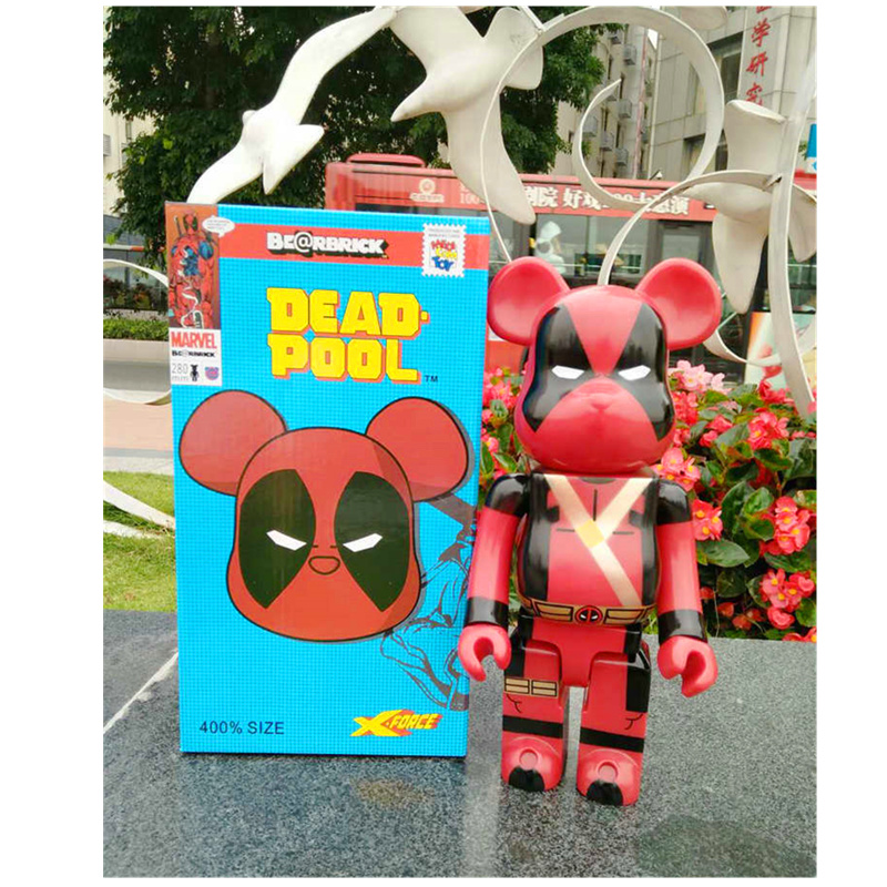 400% 28 CM Çünkü Avengers Deadpool Be @ DIY Moda oyuncak ayı DIY Graffiti Action Figure Koleksiyon Model Oyuncak h106