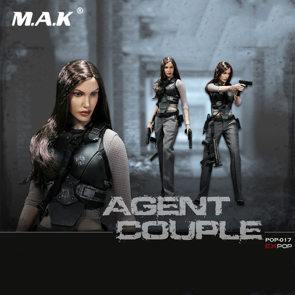 1/6 Tam Set Kadın Action Figure Ajan Çift Serisi EX017 Angelina Jolie Mrs. Smith Savaş Şekil Model Oyuncaklar Collection